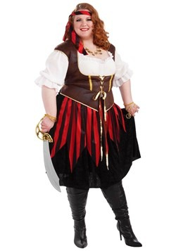 Disfraz de mujer pirata talla extra