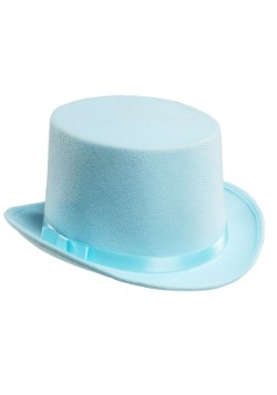 Sombrero de copa para esmoquin azul