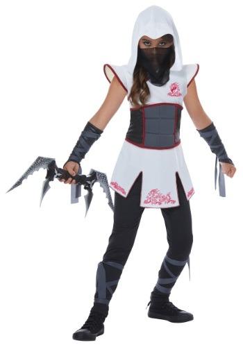 Disfraz de ninja blanca para niña