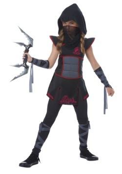 Disfraz de Ninja negro para niñas