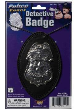 Distintivo del detective de policía