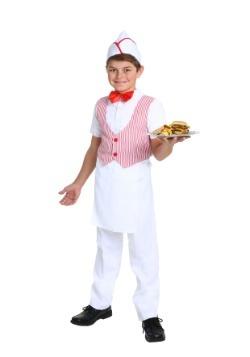 Disfraz de Car Hop para niño de los años 50