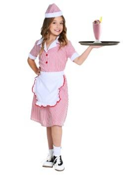 Disfraz de Car Hop para niña de los años 50