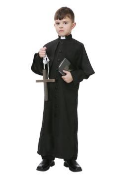 Disfraz infantil de sacerdote deluxe