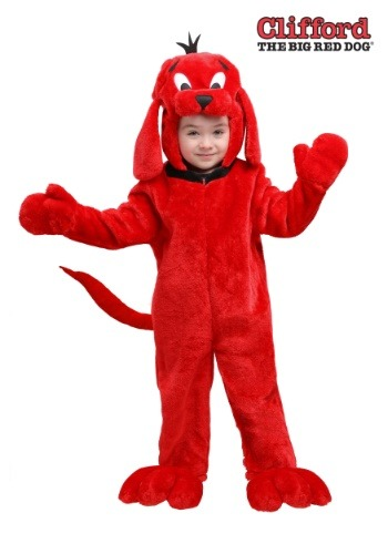 Disfraz de Clifford el gran perro rojo para niños pequeños