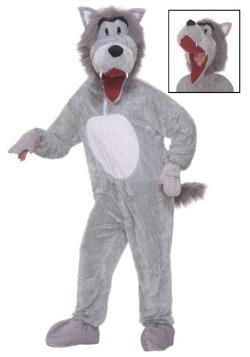 Disfraz de lobo de cuento de felpa