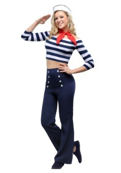 Disfraz de belleza náutica para mujer