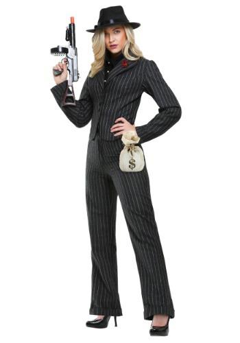 Disfraz de mujer gángster para mujer