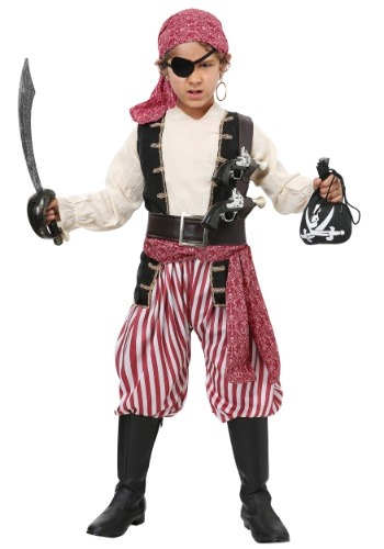 Disfraz de bucanero de batalla para niño