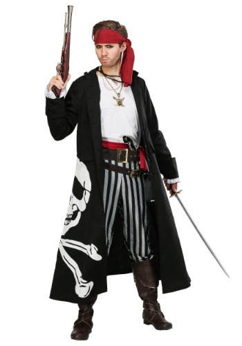 Disfraz de Pirate Flag Captain Plus Size para hombre