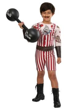 Disfraz vintage de hombre fuerte para niño