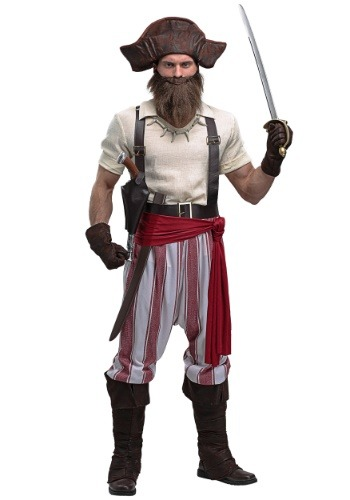 Disfraz de Seven Seas Pirate Plus Size para hombre