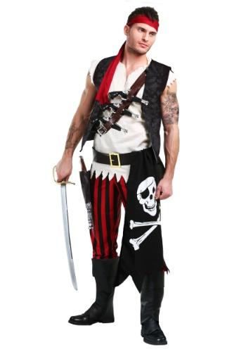 Traje de pirata de cubierta de hombre y traje de pirata