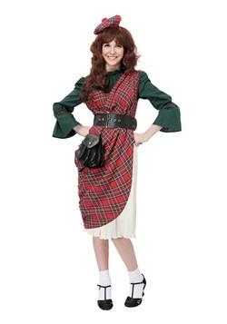 Disfraz de Lassie escocesa para mujer