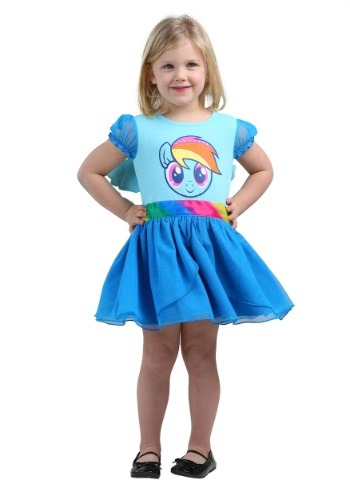 MLP Girls Rainbow Dash Tulle Costume Dress