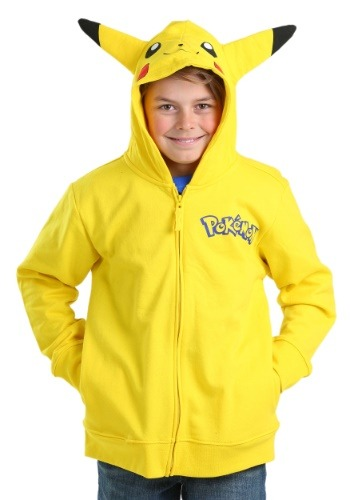 Pokemon Boys Pikachu Costume Sudadera con capucha