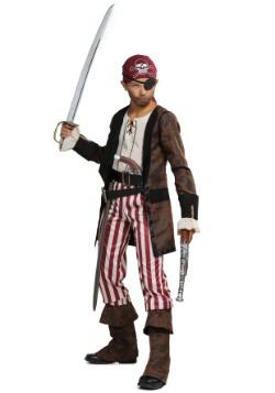 Vestido de abrigo café de pirata para niño