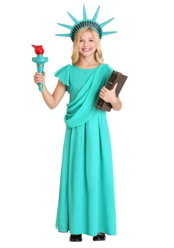 Disfraz de la Estatua de la Libertad para niña