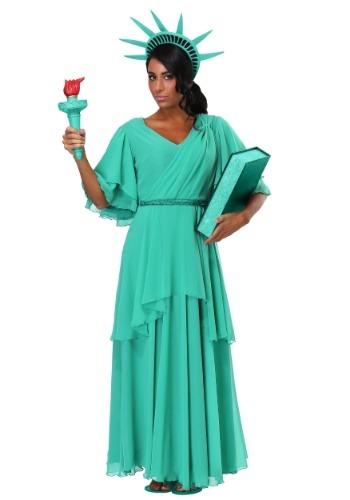 Disfraz de Estatua de la Libertad para mujer talla extra