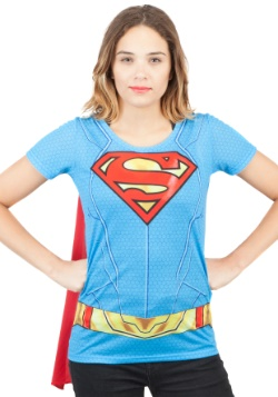 Camiseta Supergirl Suit Up Sublimated Cape