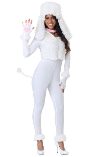 Disfraz de caniche blanco para mujer