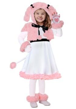 Disfraz de caniche rosa para niños pequeños