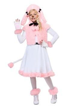 Disfraz infantil de poodle rosa