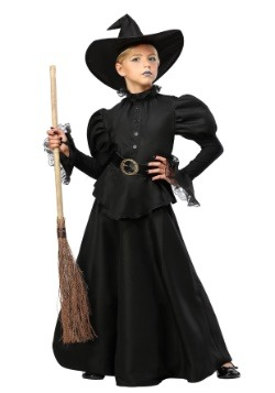 Vestido clásico de bruja negra para niñas