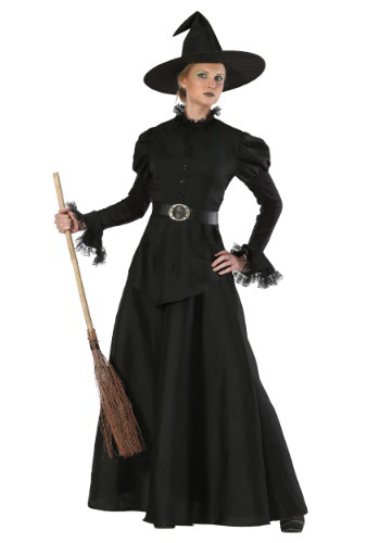 Disfraz de bruja negra clásica para mujer