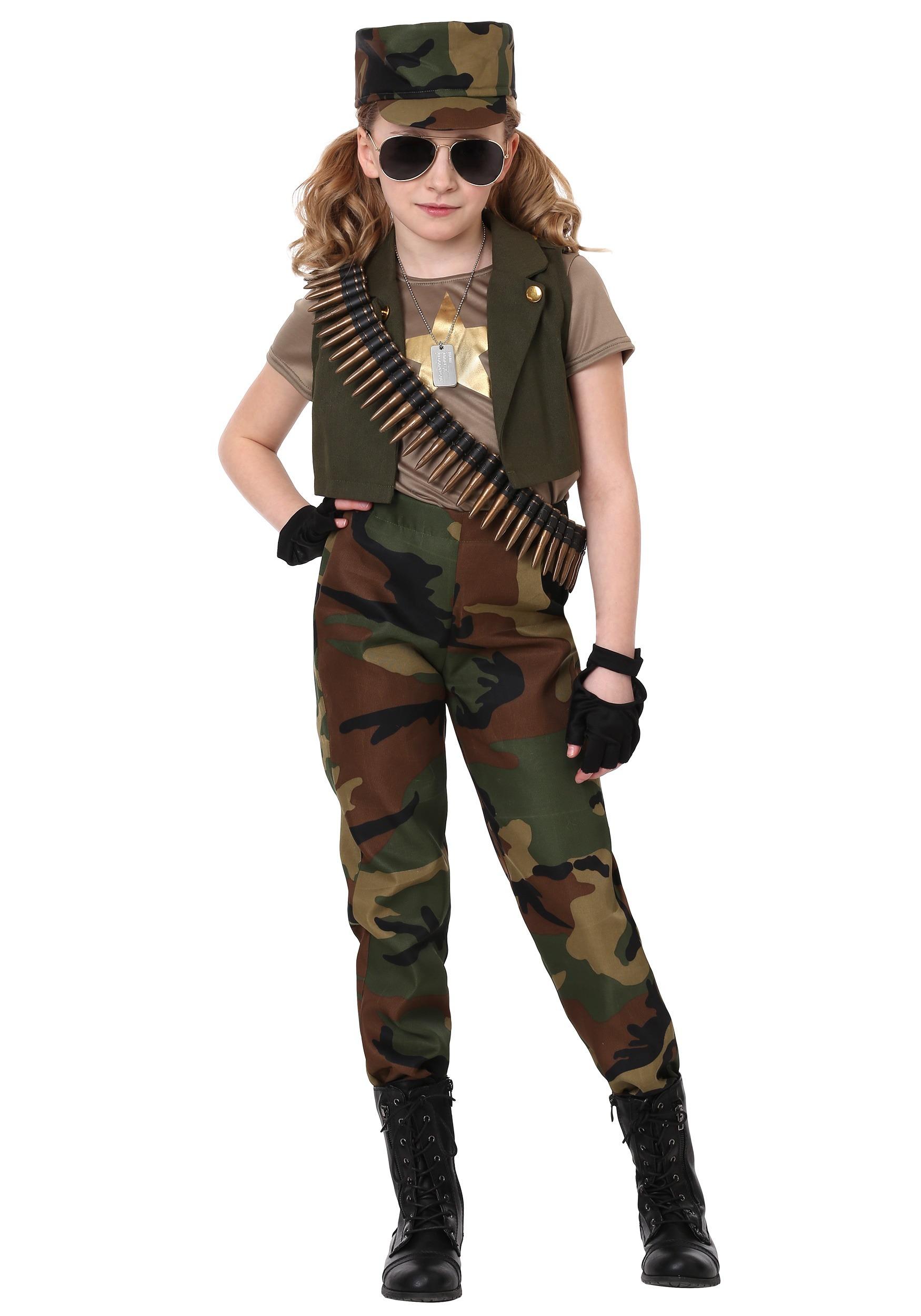 Disfraz De Comandante Militar Para Ninas