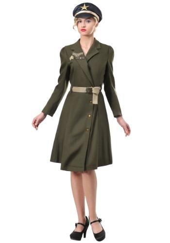 Disfraz de capitán militar talla grande para mujer