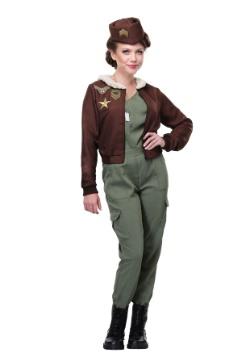Oficial de vuelo vintage de mujer