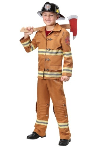 Traje de uniformes de bombero Tan Uniform Kids