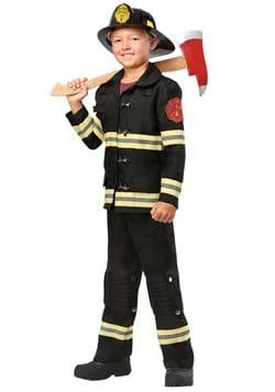 Disfraz de bombero uniforme negro para niños