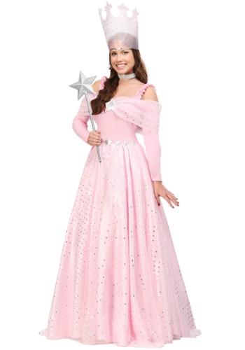Disfraz de bruja rosada de lujo