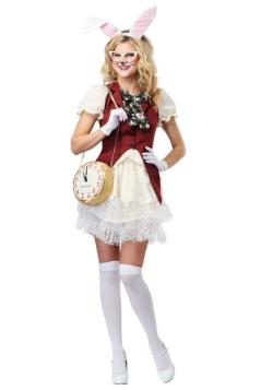 Disfraz de conejo blanco de mujer