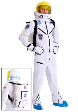 Disfraz mameluco de astronauta blanco para adulto
