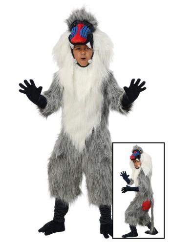 Disfraz de babuino para niños