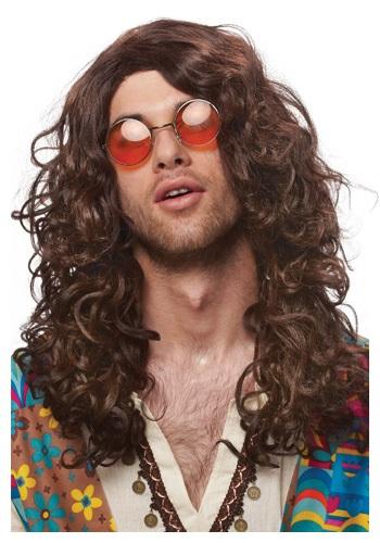 Peluca en onda de hippie
