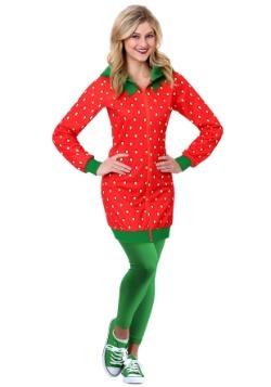 Vestido con capucha de fresa