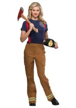 Disfraz de Capitán fuego talla grande para mujer