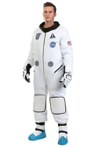 Disfraz de astronauta de lujo para hombre de talla grande