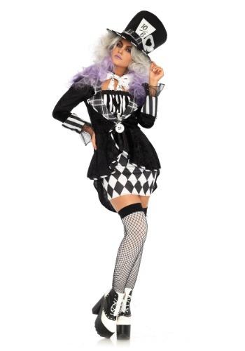 Disfraz de Mad Hatter oscuro para mujer