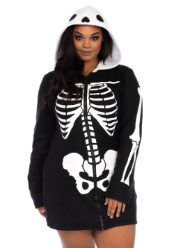 Disfraz de esqueleto acogedor más tamaño