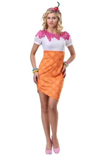 Disfraz de cono de helado para mujer