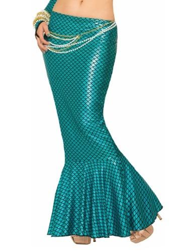 Falda de aleta de sirena azul para mujer