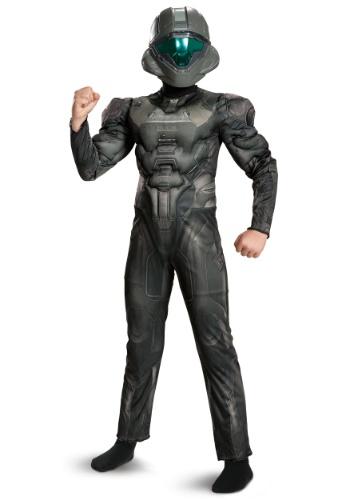 Disfraz musculoso de Spartan Buck clásico de Halo para niño