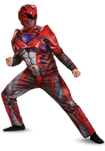 Disfraz de Power Rangers Movie Red Ranger Deluxe para hombre