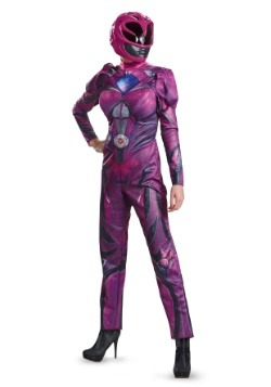 Disfraz de Power Rangers Movie Pink Ranger Deluxe para mujer