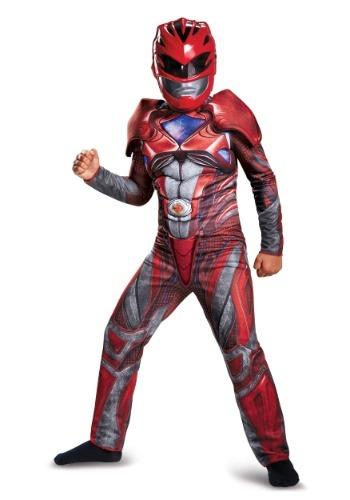 Disfraz musculoso clásico de Ranger rojo para niño